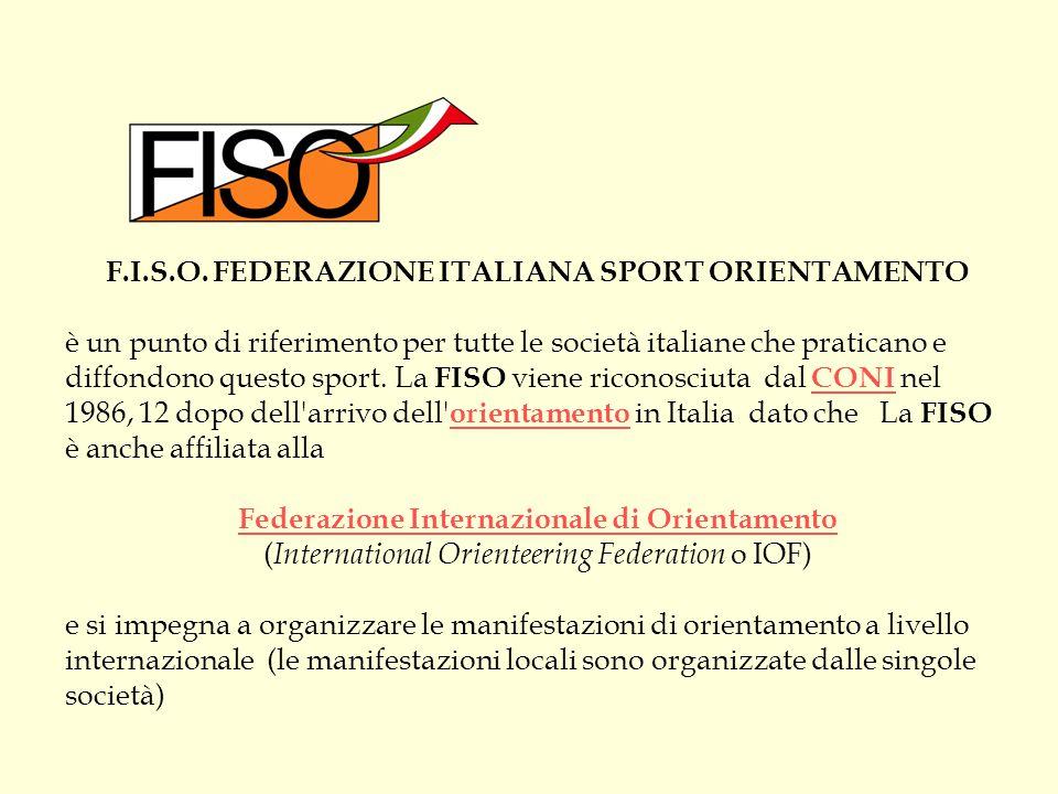 F.I.S.O. FEDERAZIONE ITALIANA SPORT ORIENTAMENTO