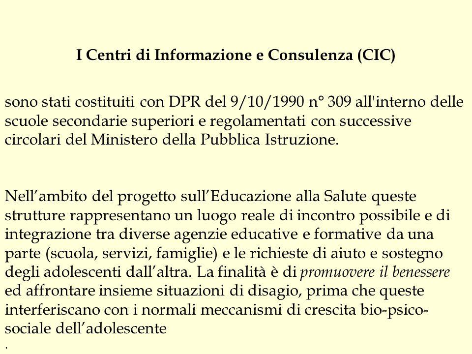 I Centri di Informazione e Consulenza (CIC)