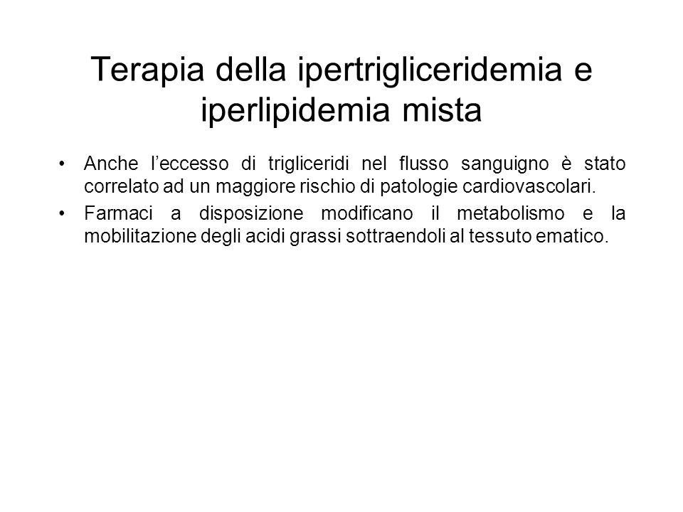 Terapia della ipertrigliceridemia e iperlipidemia mista