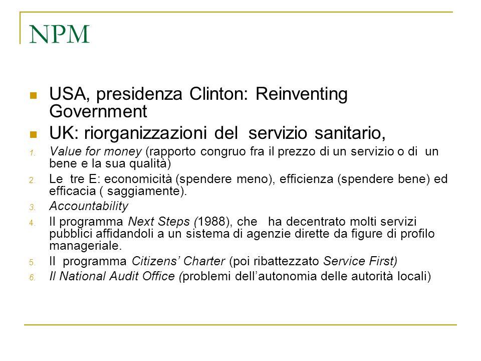 NPM USA, presidenza Clinton: Reinventing Government