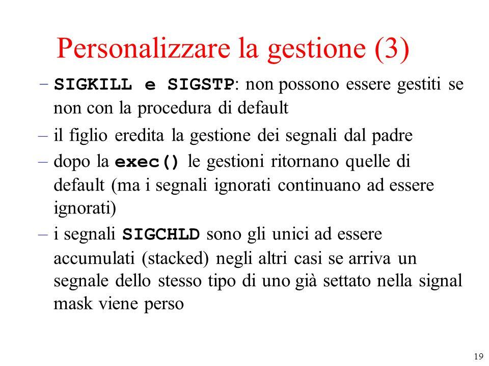 Personalizzare la gestione (3)