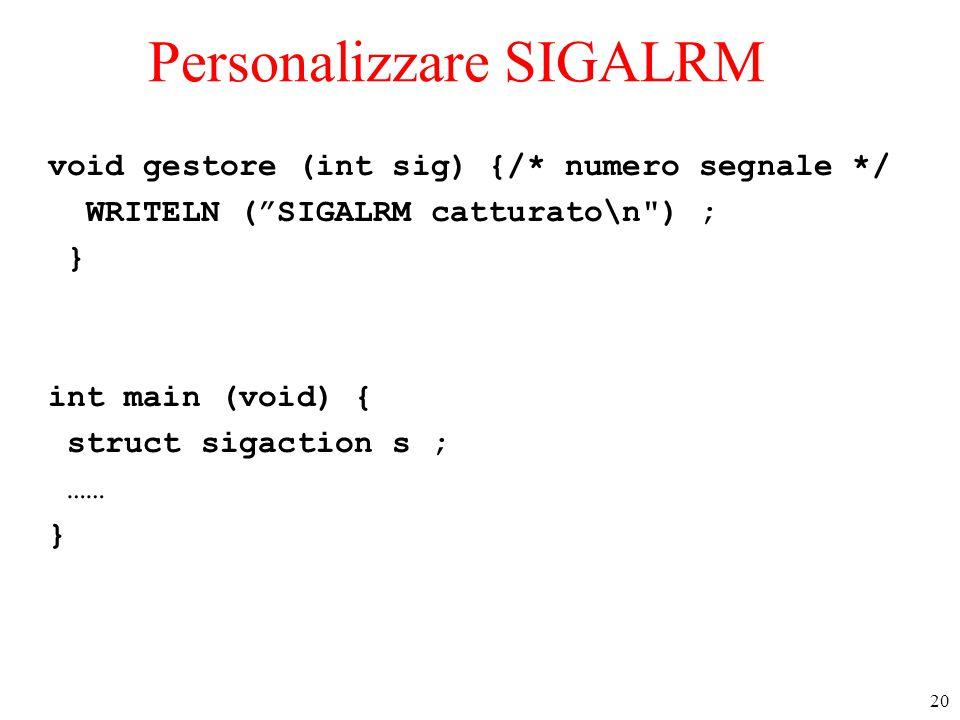 Personalizzare SIGALRM