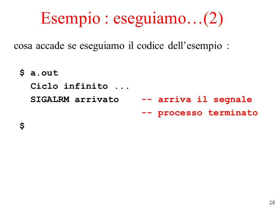 Esempio : eseguiamo…(2)