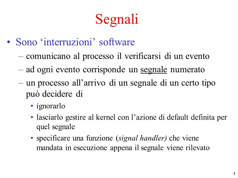 Segnali Sono 'interruzioni' software