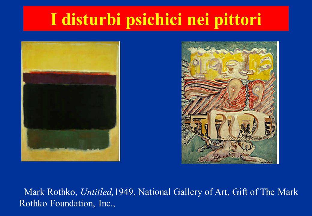 I disturbi psichici nei pittori