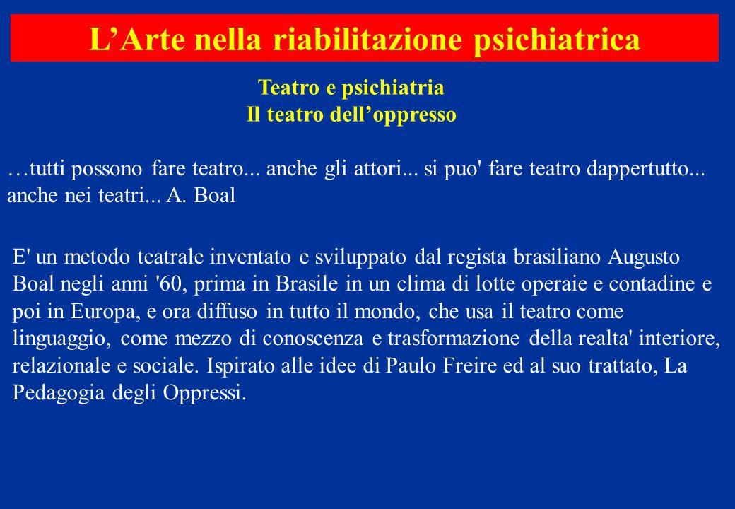 L'Arte nella riabilitazione psichiatrica Il teatro dell'oppresso