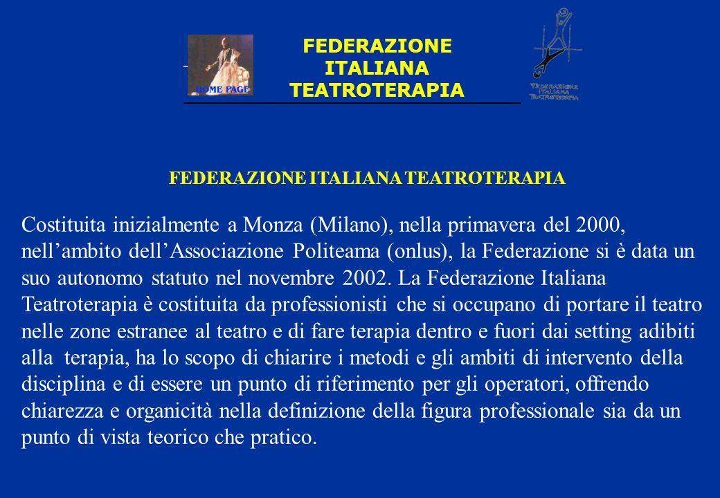 FEDERAZIONE ITALIANA TEATROTERAPIA FEDERAZIONE ITALIANA TEATROTERAPIA