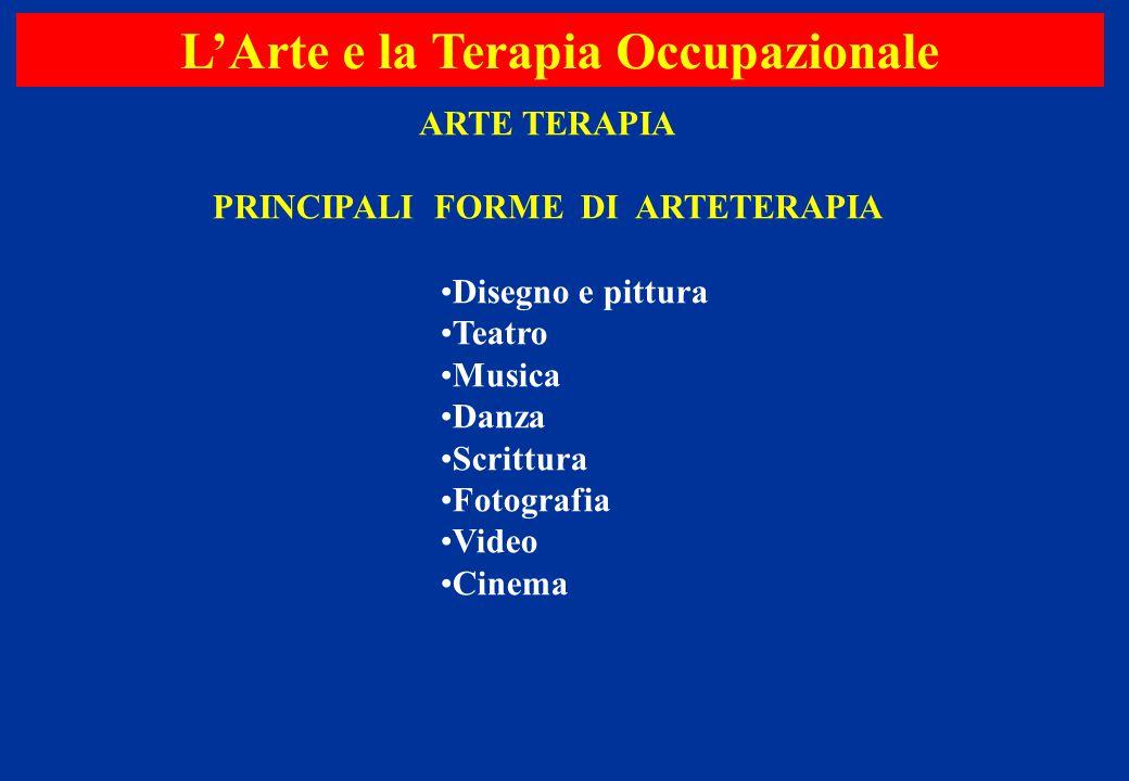 L'Arte e la Terapia Occupazionale PRINCIPALI FORME DI ARTETERAPIA