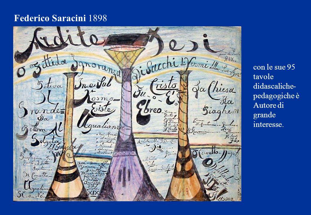 Federico Saracini 1898 con le sue 95 tavole didascaliche-pedagogiche è Autore di grande interesse.