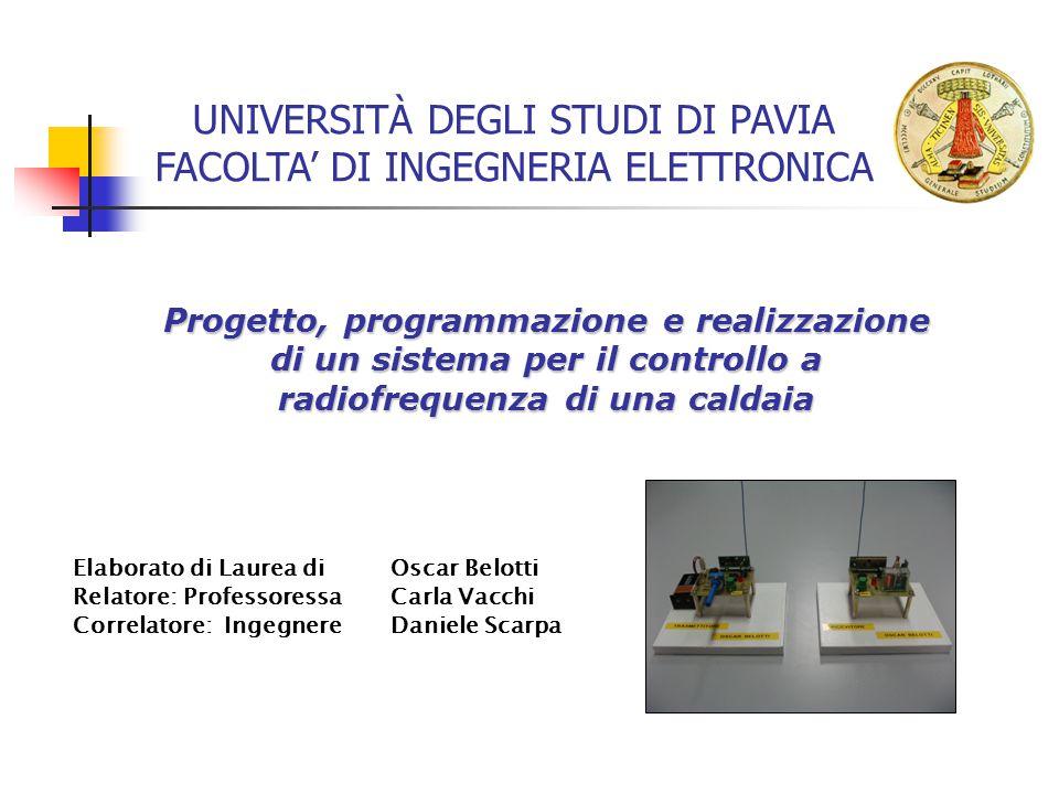 UNIVERSITÀ DEGLI STUDI DI PAVIA FACOLTA' DI INGEGNERIA ELETTRONICA