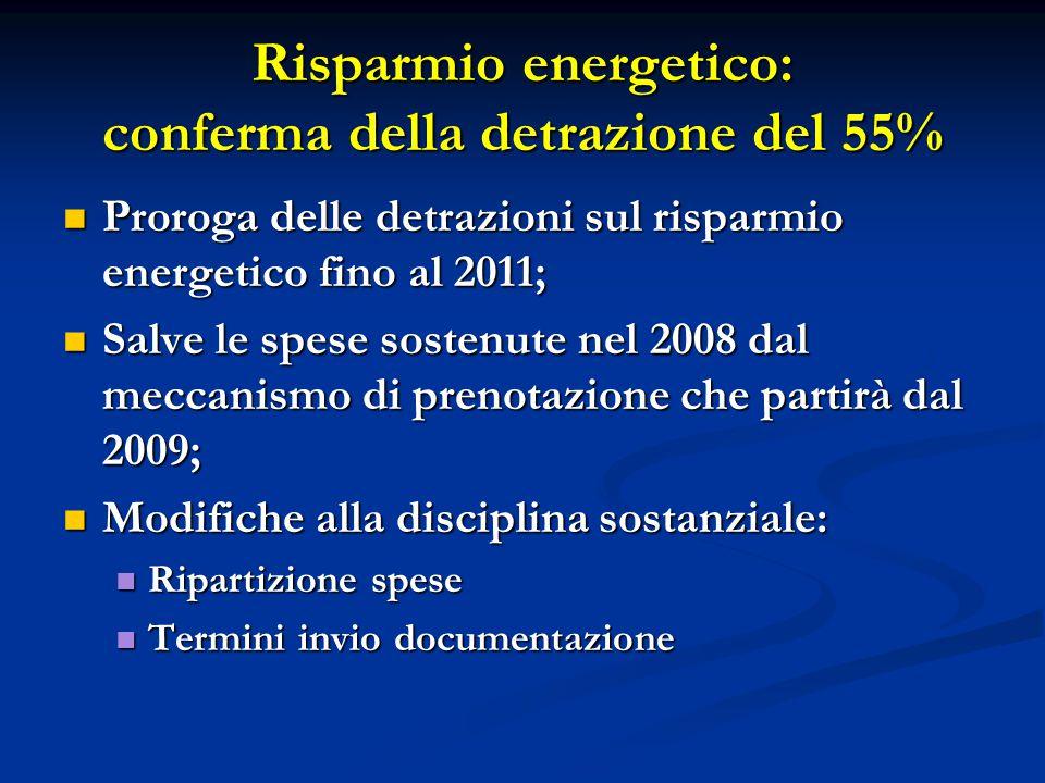 Risparmio energetico: conferma della detrazione del 55%