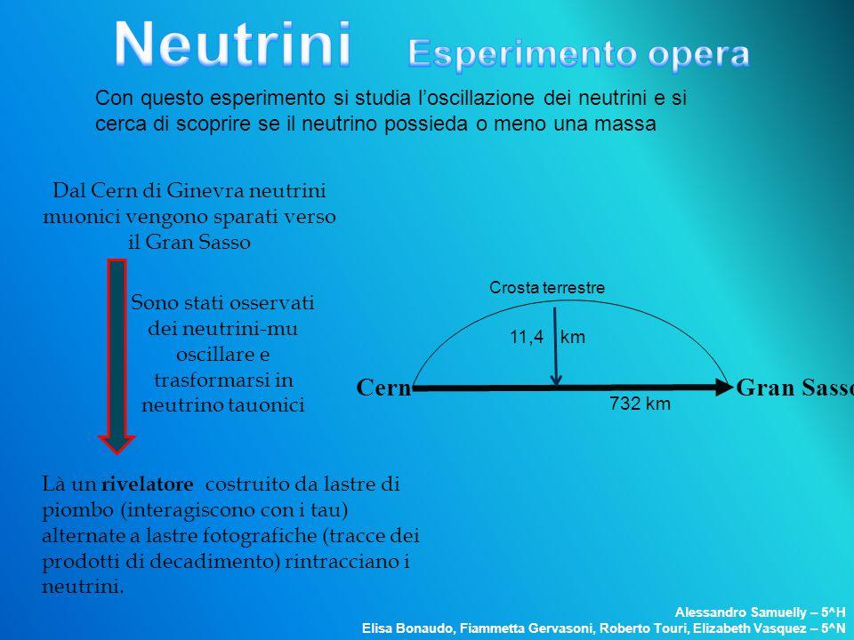 Neutrini Esperimento opera