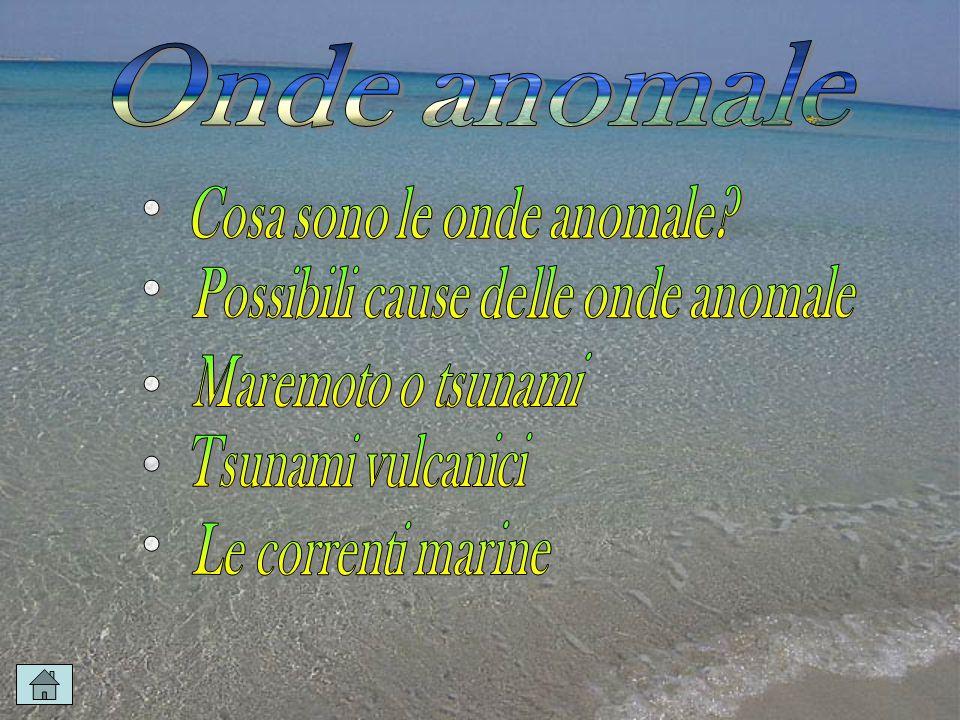 Cosa sono le onde anomale Possibili cause delle onde anomale