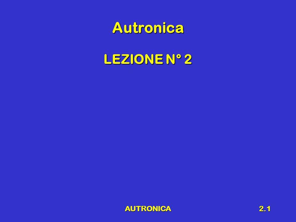 Autronica LEZIONE N° 2 AUTRONICA
