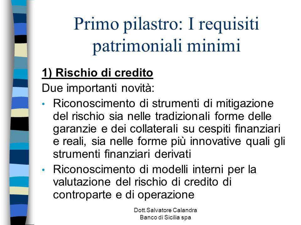 Primo pilastro: I requisiti patrimoniali minimi