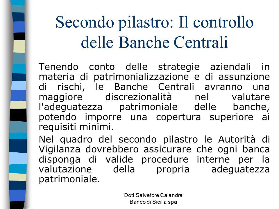 Secondo pilastro: Il controllo delle Banche Centrali