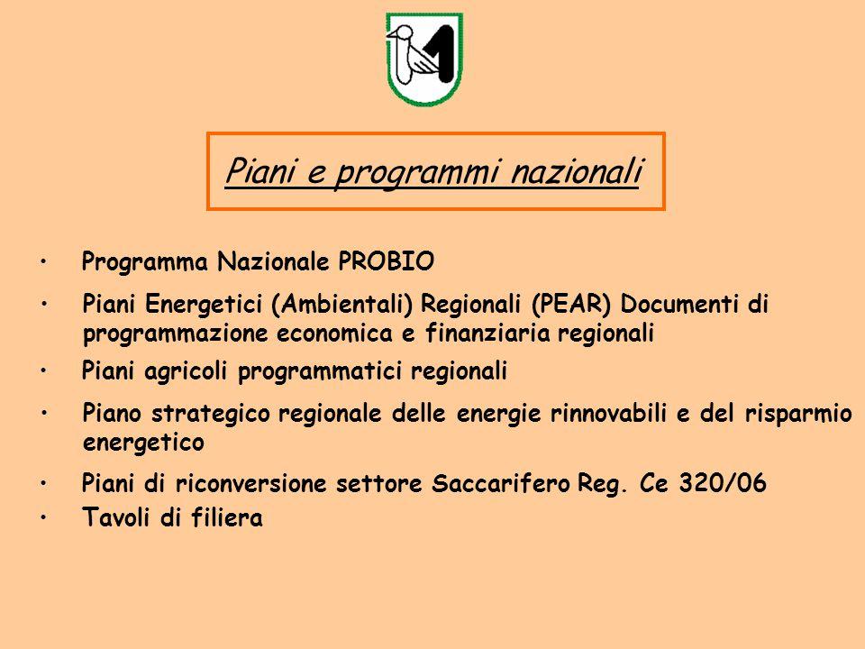 Piani e programmi nazionali