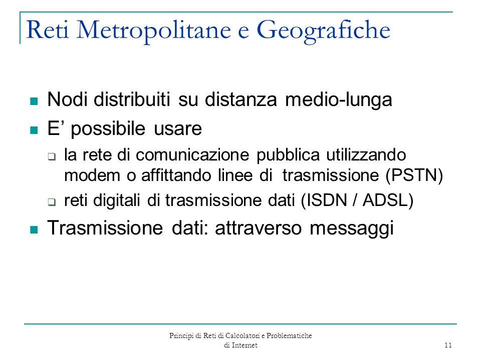 Reti Metropolitane e Geografiche