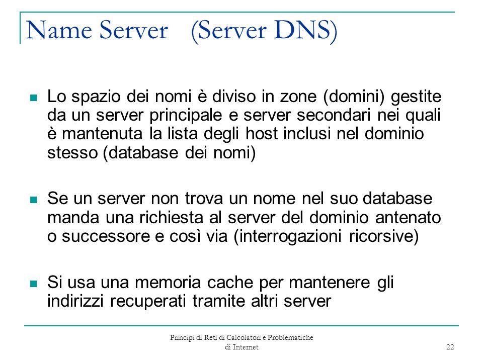 Name Server (Server DNS)
