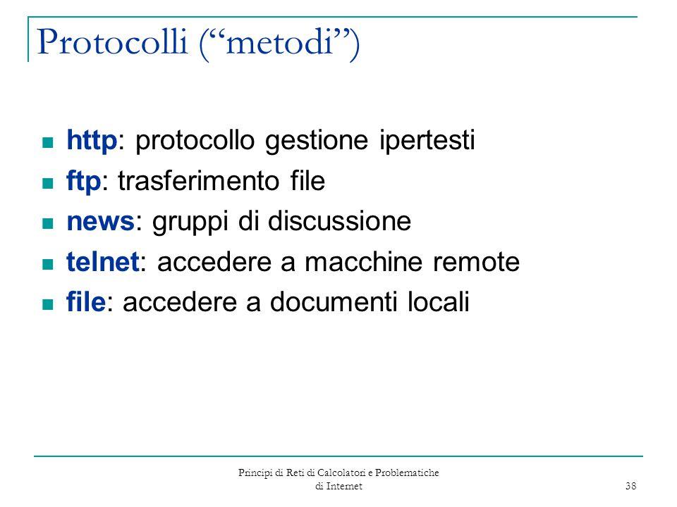 Protocolli ( metodi )