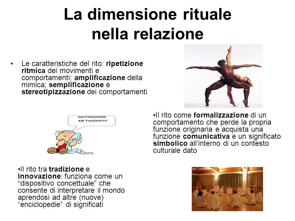 La dimensione rituale nella relazione