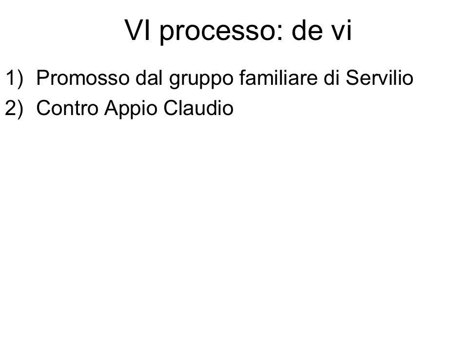 Promosso dal gruppo familiare di Servilio Contro Appio Claudio