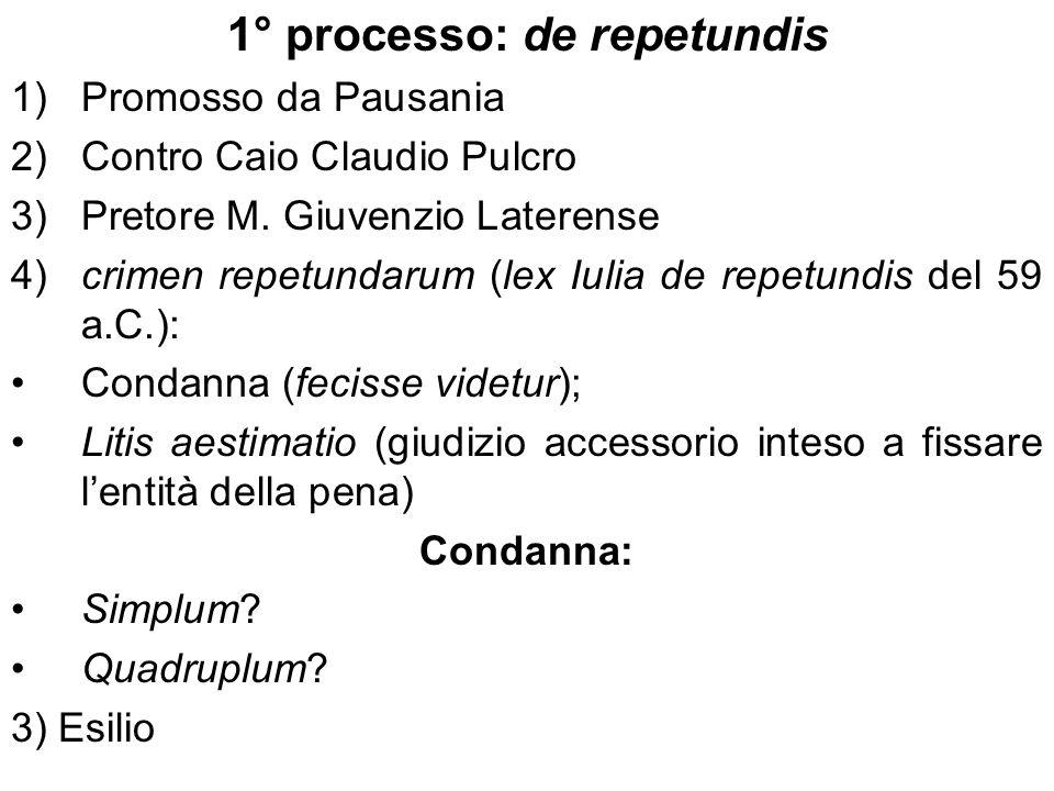 1° processo: de repetundis