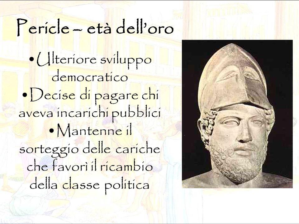 Pericle – età dell'oro Ulteriore sviluppo democratico