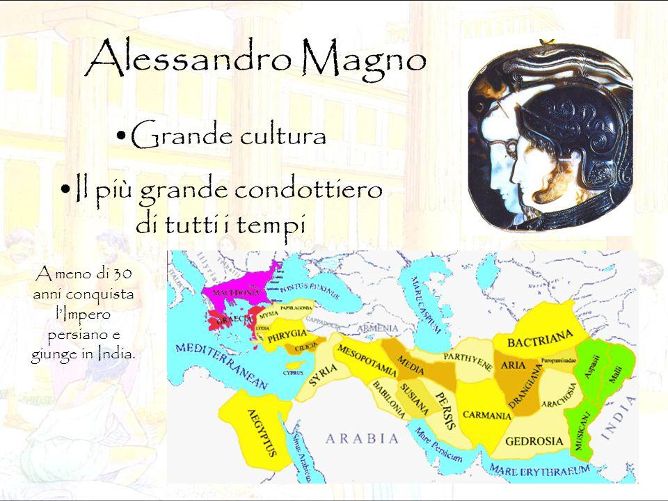 Alessandro Magno Grande cultura