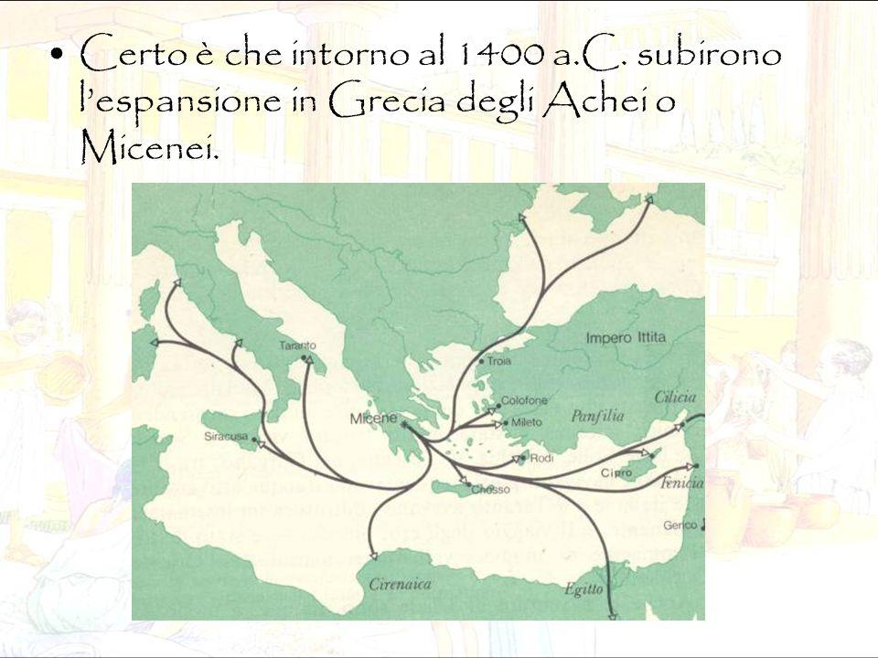 Certo è che intorno al 1400 a. C