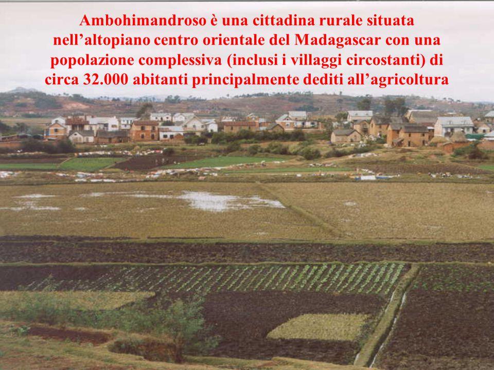 Ambohimandroso è una cittadina rurale situata nell'altopiano centro orientale del Madagascar con una popolazione complessiva (inclusi i villaggi circostanti) di circa 32.000 abitanti principalmente dediti all'agricoltura