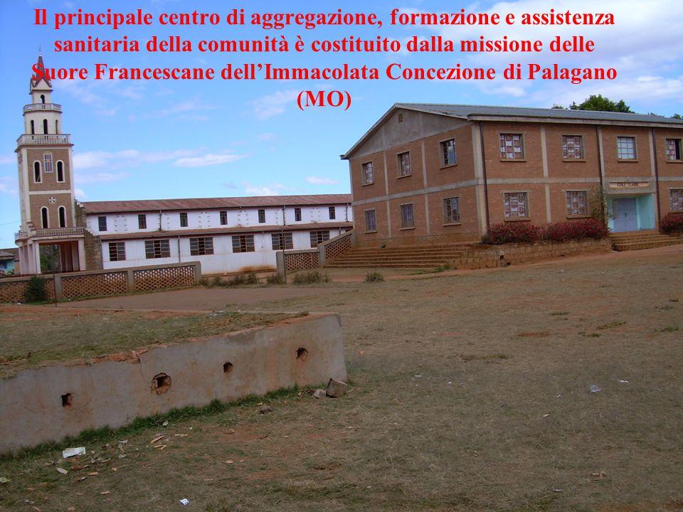 Il principale centro di aggregazione, formazione e assistenza sanitaria della comunità è costituito dalla missione delle Suore Francescane dell'Immacolata Concezione di Palagano (MO)
