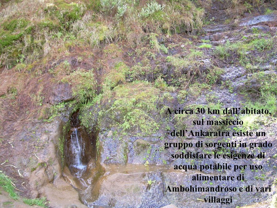 A circa 30 km dall'abitato, sul massiccio dell'Ankaratra esiste un gruppo di sorgenti in grado soddisfare le esigenze di acqua potabile per uso alimentare di Ambohimandroso e di vari villaggi