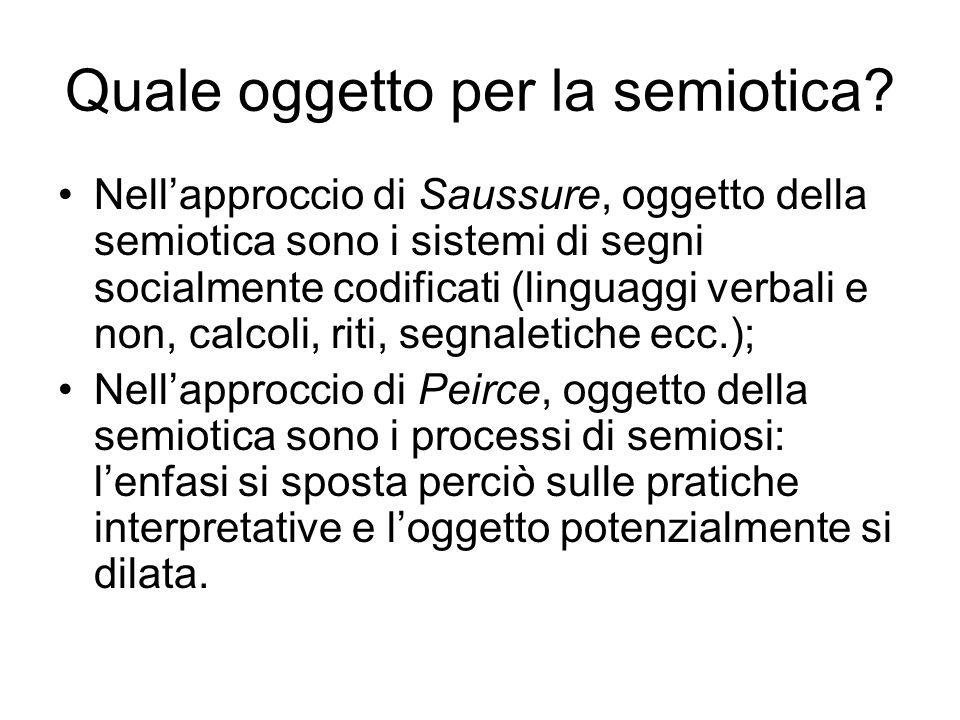 Quale oggetto per la semiotica