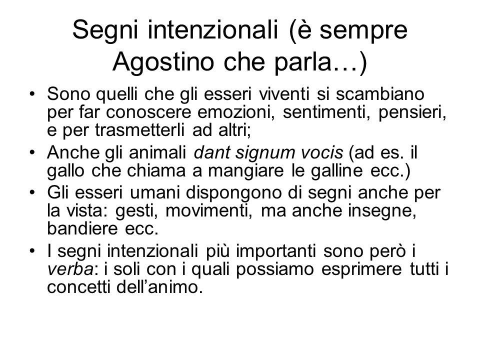 Segni intenzionali (è sempre Agostino che parla…)