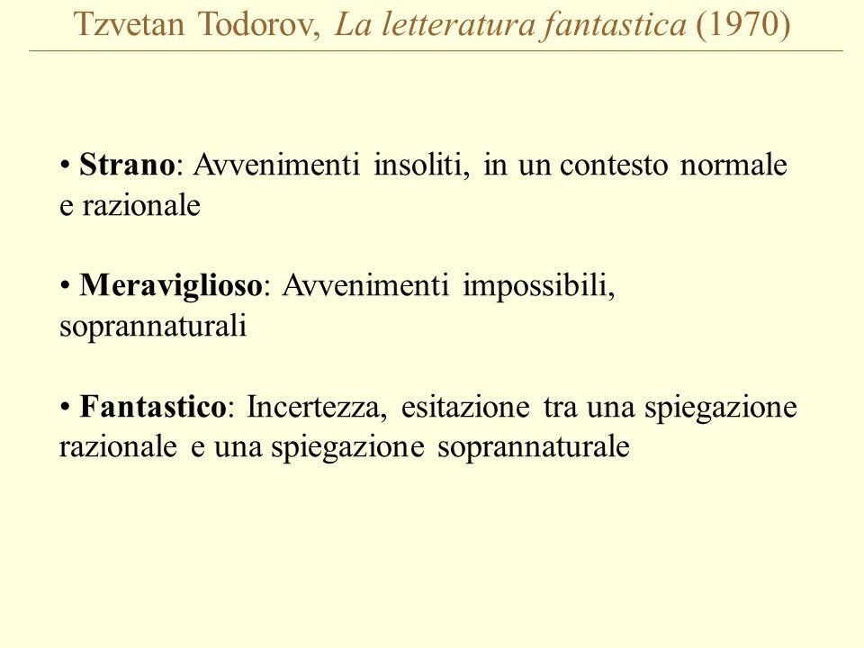 Tzvetan Todorov, La letteratura fantastica (1970)