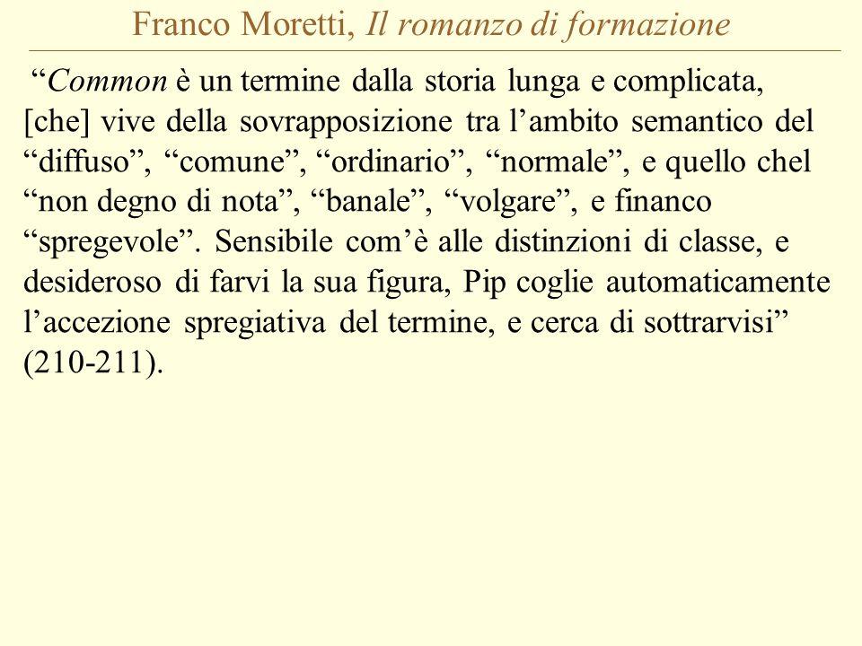 Franco Moretti, Il romanzo di formazione