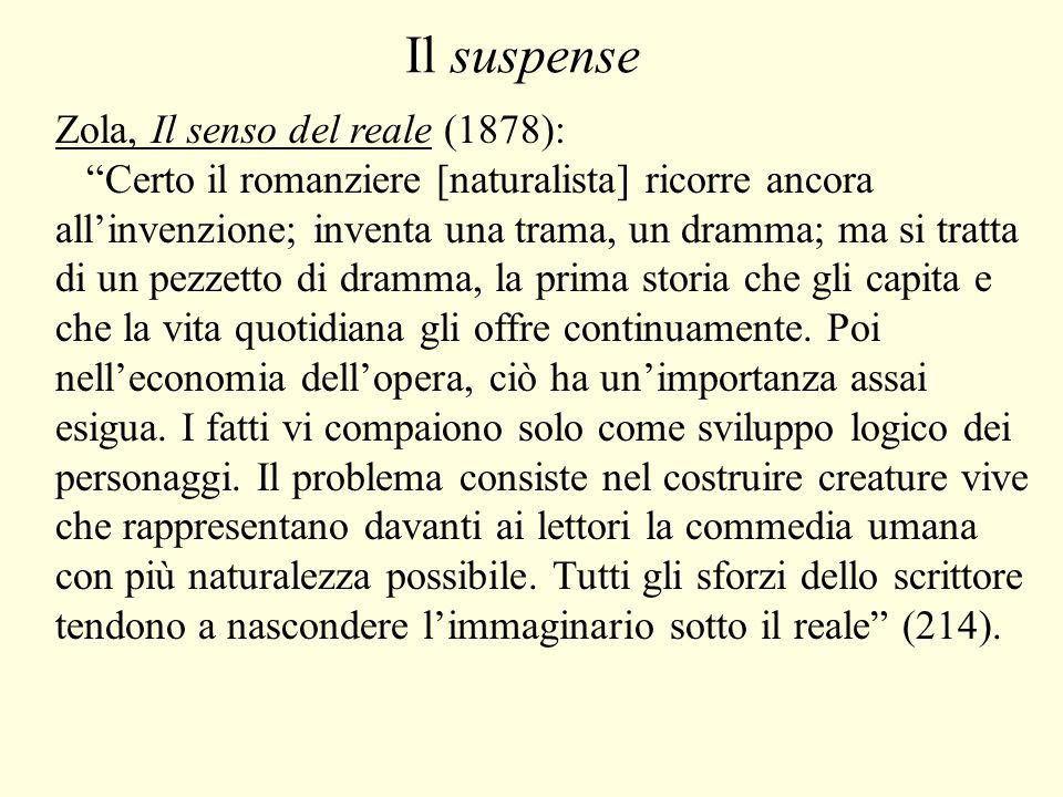 Il suspense Zola, Il senso del reale (1878):