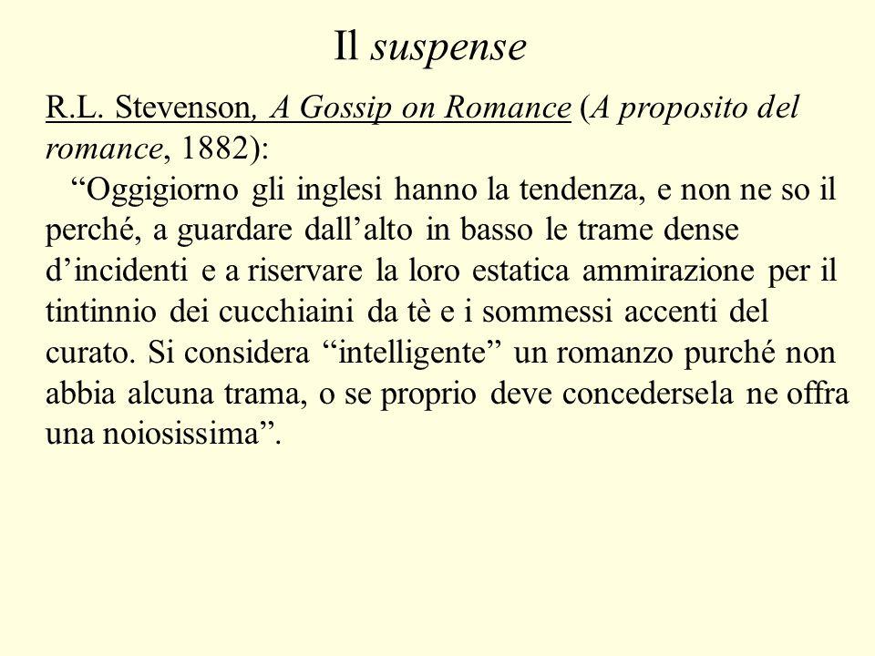 Il suspense R.L. Stevenson, A Gossip on Romance (A proposito del romance, 1882):
