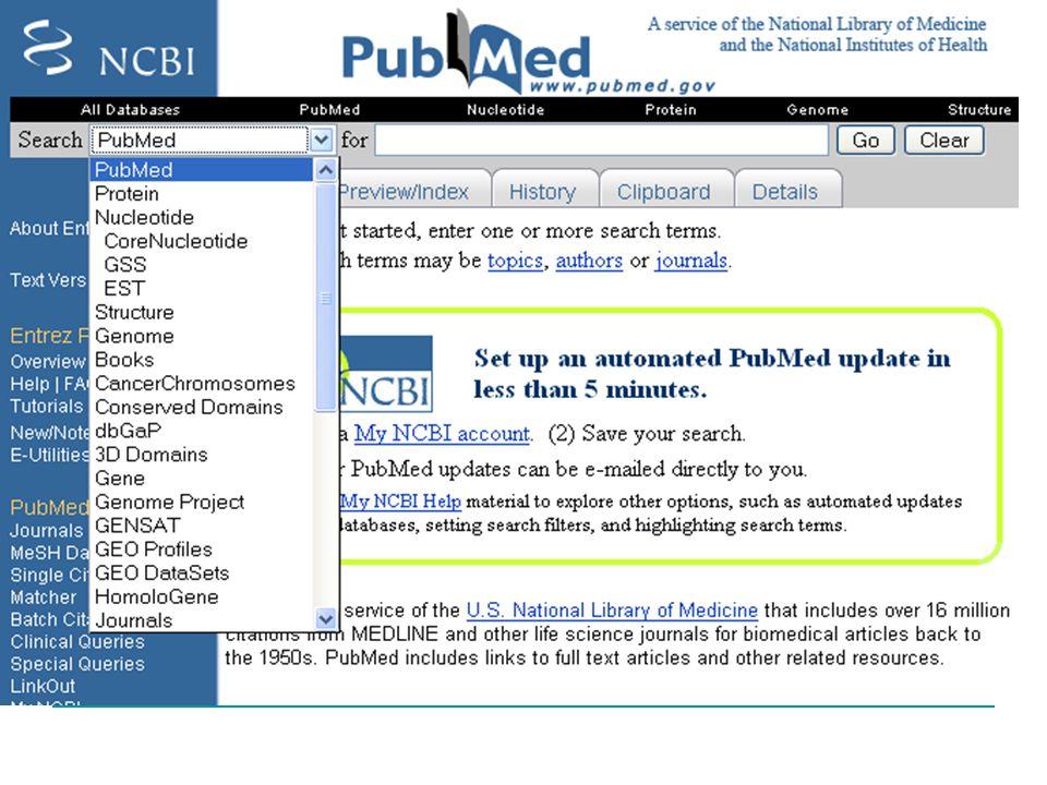 L'archivio a cui si è automaticamente collegati è pubmed