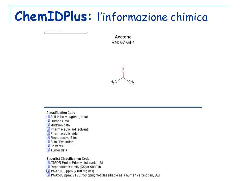 ChemIDPlus: l'informazione chimica