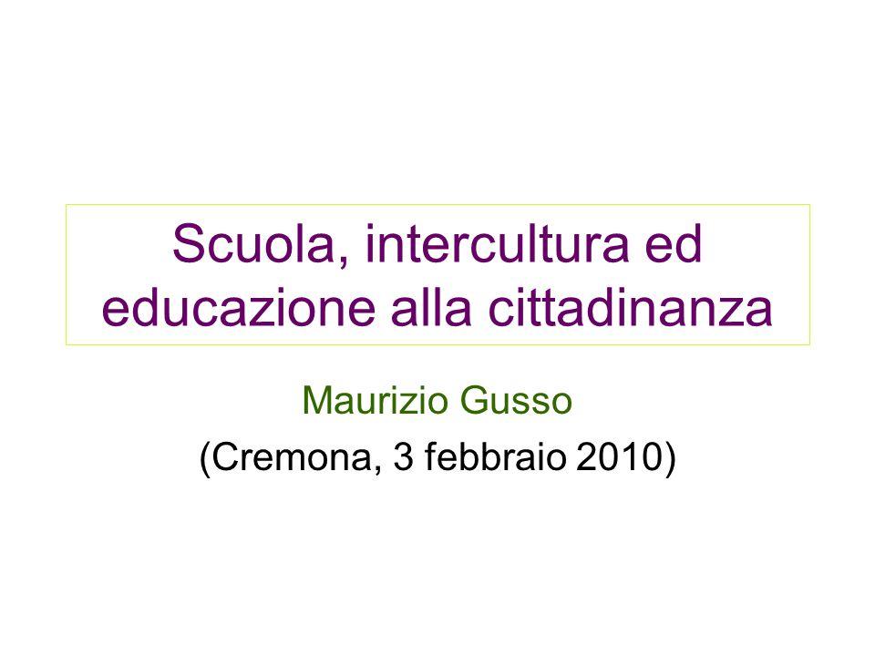 Scuola, intercultura ed educazione alla cittadinanza