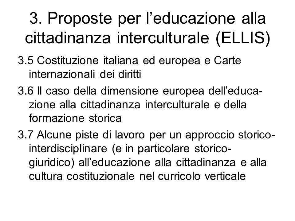 3. Proposte per l'educazione alla cittadinanza interculturale (ELLIS)