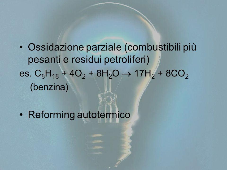 Ossidazione parziale (combustibili più pesanti e residui petroliferi)