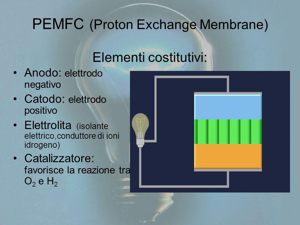PEMFC (Proton Exchange Membrane) Elementi costitutivi: