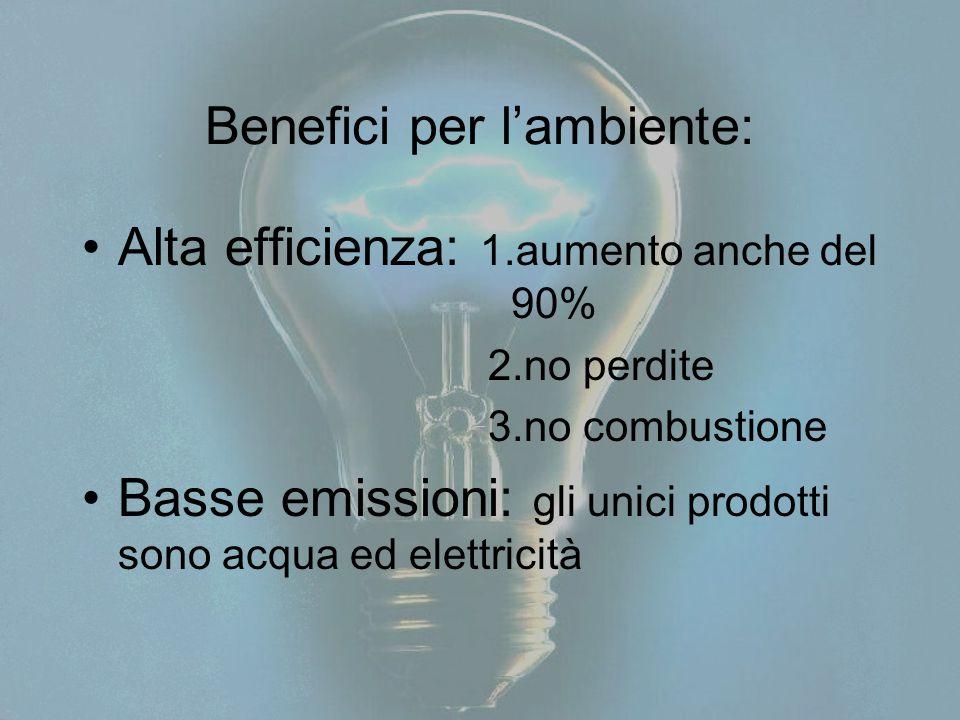 Benefici per l'ambiente: