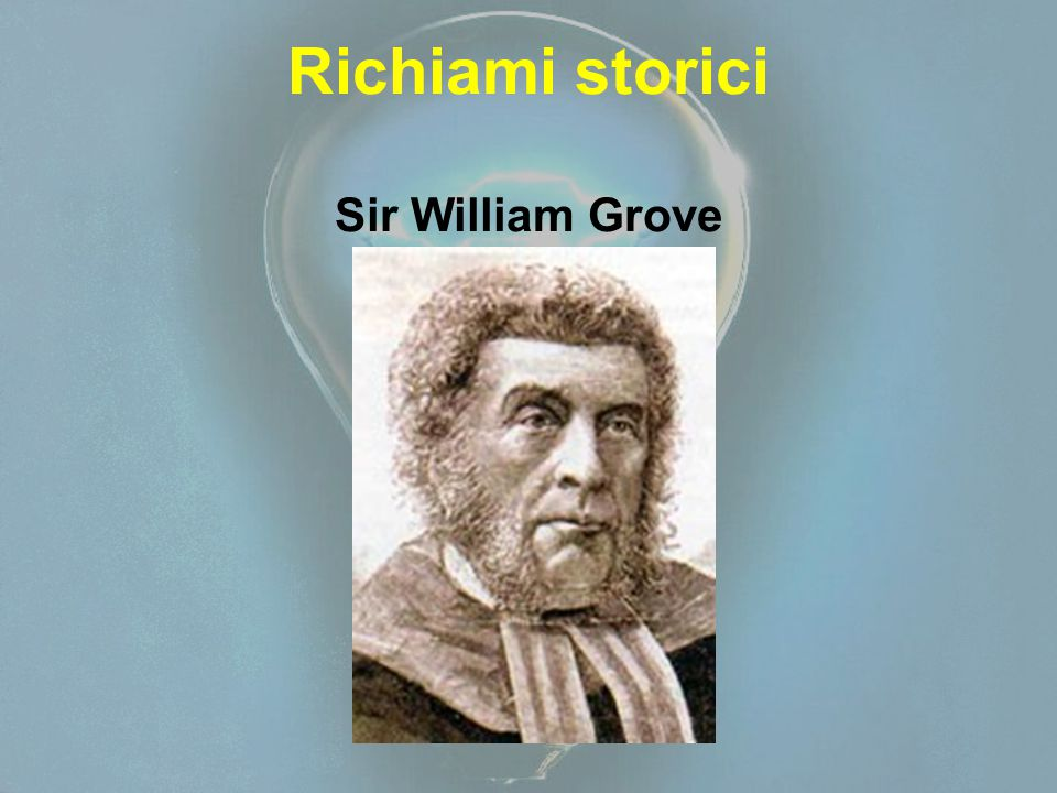 Richiami storici Sir William Grove