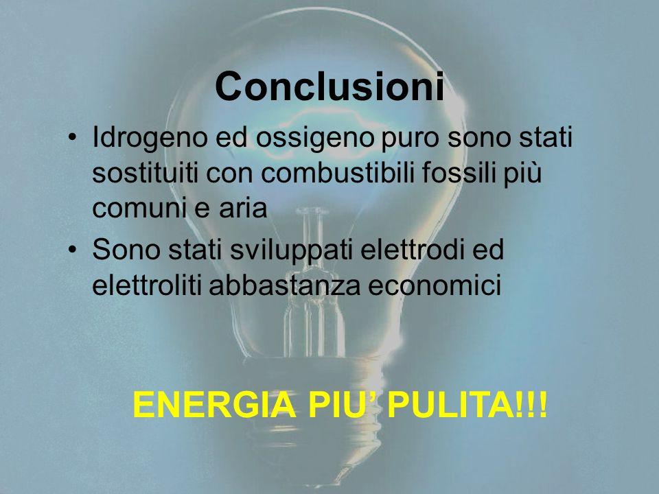 Conclusioni ENERGIA PIU' PULITA!!!