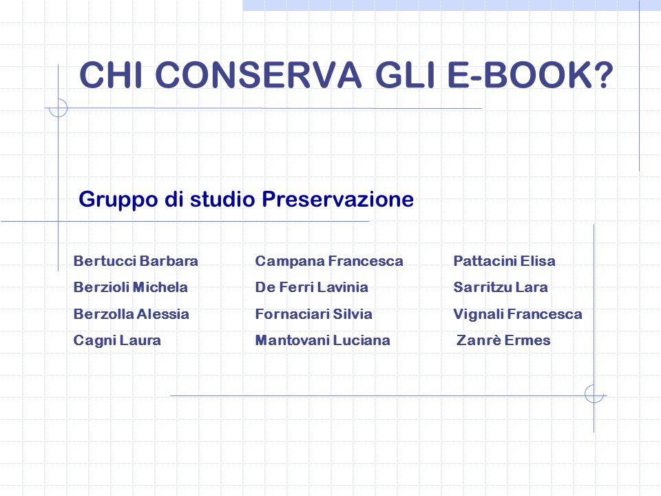 CHI CONSERVA GLI E-BOOK