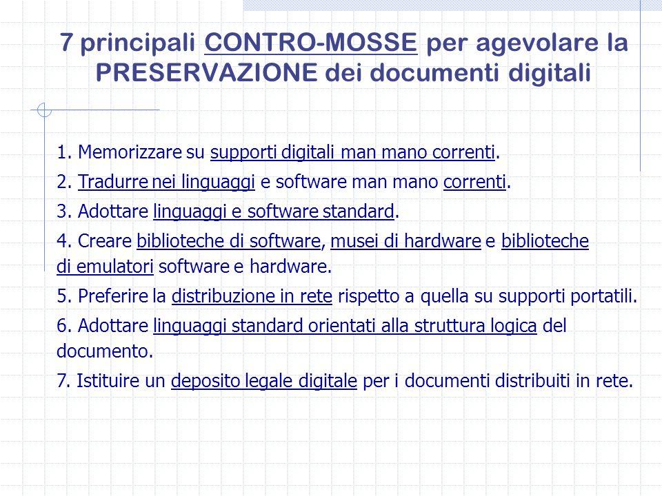 7 principali CONTRO-MOSSE per agevolare la PRESERVAZIONE dei documenti digitali